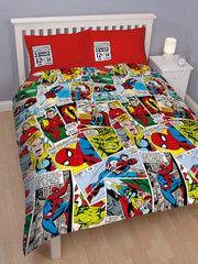 MARVEL COMICS ~ 'Justice' Double/Queen Bed Reversible Quilt Set