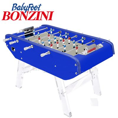 Bonzini B90 Perspex Legs Table Football in Blue