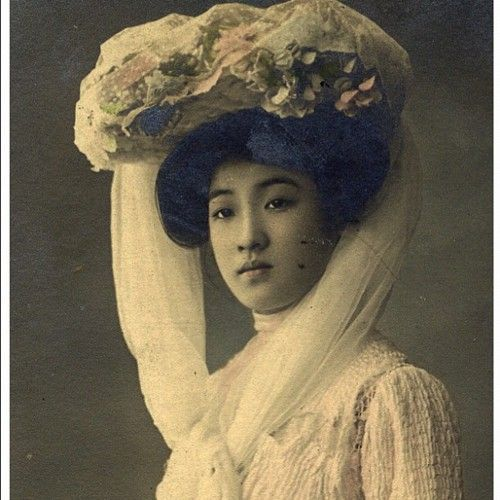"""Japanese woman photographed in 1906 Titled """"The most beautiful women in  Japan. Photographer is unknown."""