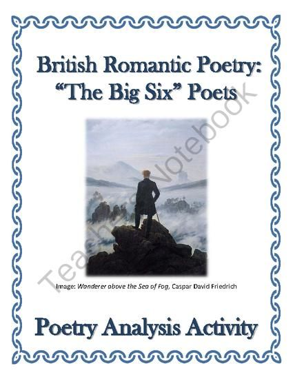 romanticism analysis Dive deep into romantic poets with extended analysis, commentary, and  discussion.