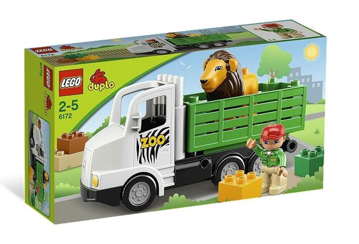 CAMION ZOO (6172) Ajuta ingrijitorul de la gradina zoologica sa transporte leul folosind setul colorat si usor de construit LEGO® DUPLO® Camionul Zoo !