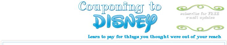 """Couponing to Disney"" is a term they came up with to describe what this site helps with. They find unique and creative ways to save and earn money and they use it to pay for their yearly trip to Disney World. There is no actual 'coupon' to Disney."