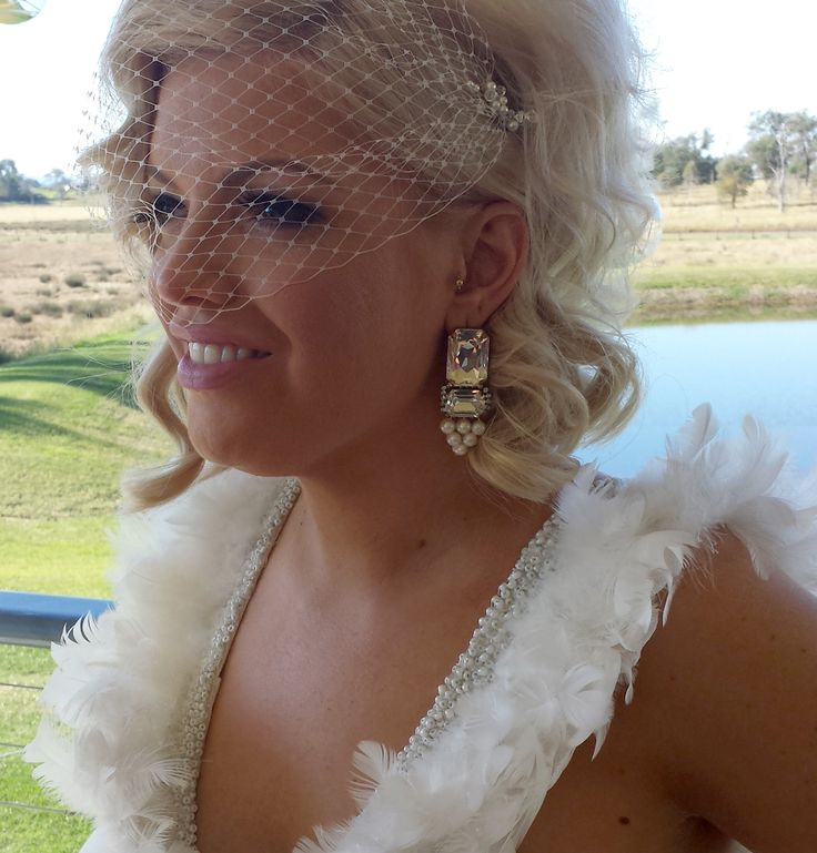 Cara Taylor- now Simmons shows us her custom Amelda earrings she wore for her wedding day. Beautiful!