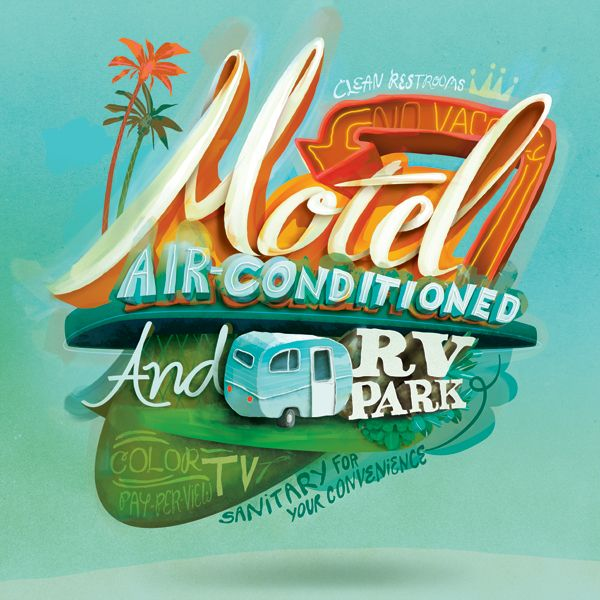 Traveling Mercies by E. W.  Thomason, via Behance: Illustrations, Color, Hands Drawn Typography, Typography Posters, Art, Posters Design, Typography Design, Graphics, Rv Parks