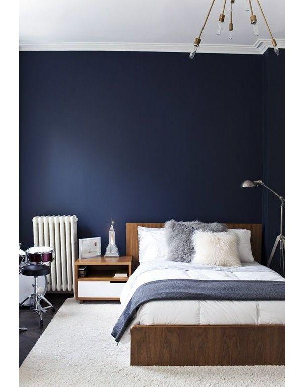une chambre bleue pure - Modele De Chambregarcon Ado Blanc Et Gris