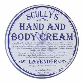 The best hand & body cream also available in Rose x http://www.scullys.net.nz/afawcs0157372/CATID=171/ID=148/SID=115287015/Lavender-Hand-and-Body-Cream.html