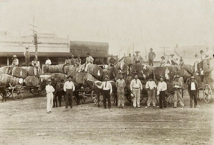 Men with cotton bales in downtown Mesquite, Texas, 1900.   The photo comes courtesy of the Mesquite Public Library.
