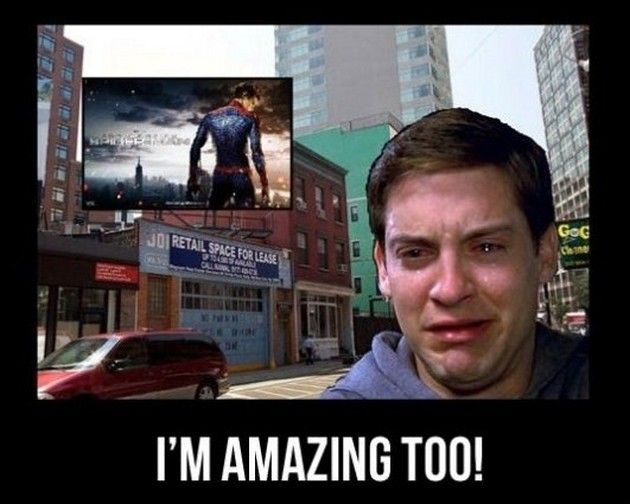 This new movie has some changes according to the last generation of SPIDERMAN's movies in which the actor Tobey Maguire was Spiderman. Description from freakorner.blogspot.co.uk. I searched for this on bing.com/images