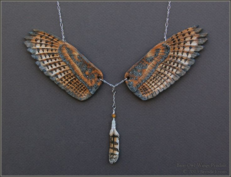 Absolutely gorgeous!! Barn Owl Wings - Leather Pendant by windfalcon.deviantart.com on @deviantART She has other wings available here, as well!