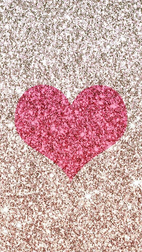 Glitter pink heart