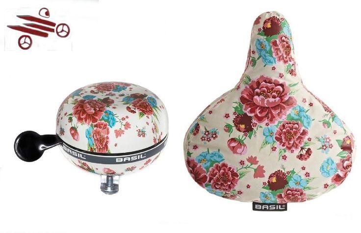Fahrradglocke Glocke Basil St Ding-Dong 80mm , Satteldecke Basil Design Blume