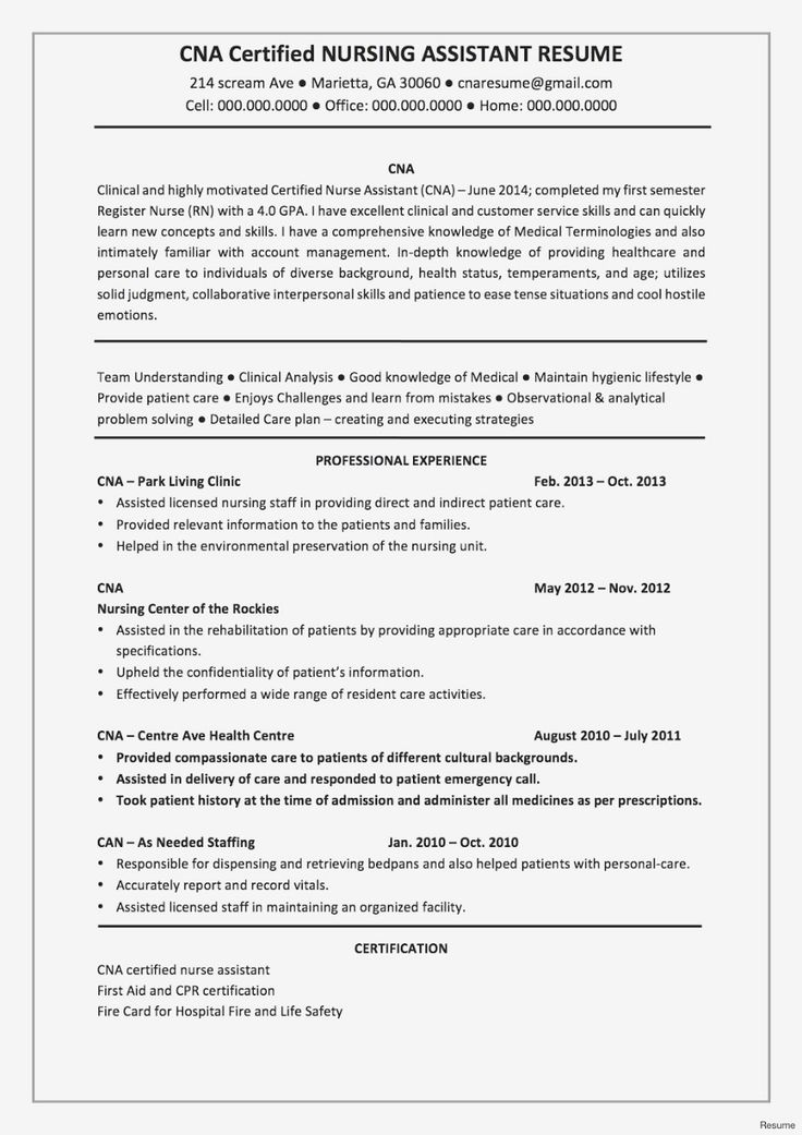 Assistant Nurse Manager Resume 2019 Resume Templates