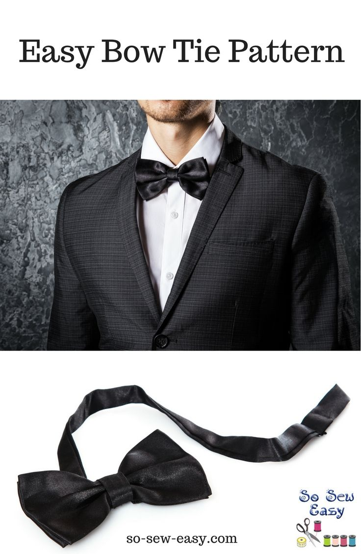 "This easy bow tie pattern is free and the tutorial is easy to follow and make. If you need to go ""James Bond,"" you can do it under an hour."