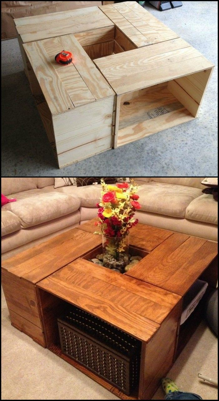 Captivating How To Build A Coffee Table From Old Crates Great Ideas