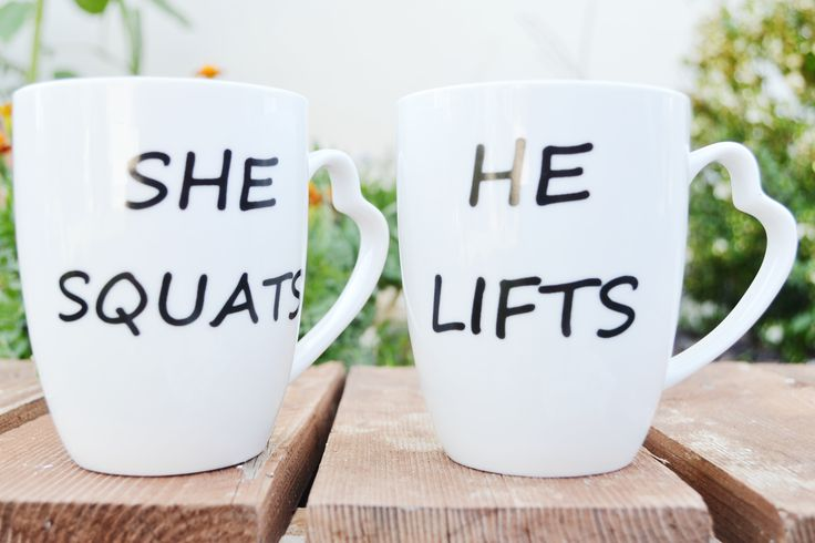 Porcelain handmade white mugs for couples. Find them in ETSY. White hand-painted mugs for him and her.  Buy them for 15.90€ Ships in all European Union countries. Mugs for gift Quote mugs Funny mugs Pretty, cute mugs