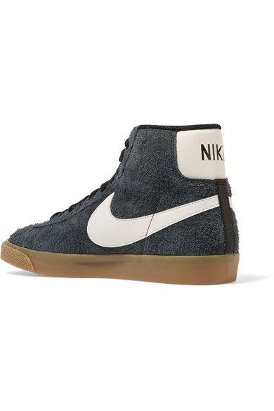 Nike - Blazer Mid Suede High-top Sneakers - Storm blue - US11