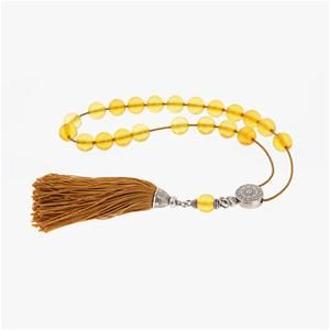 Amber Gemstone Worry Beads (Komboloi) Sterling Silver 925