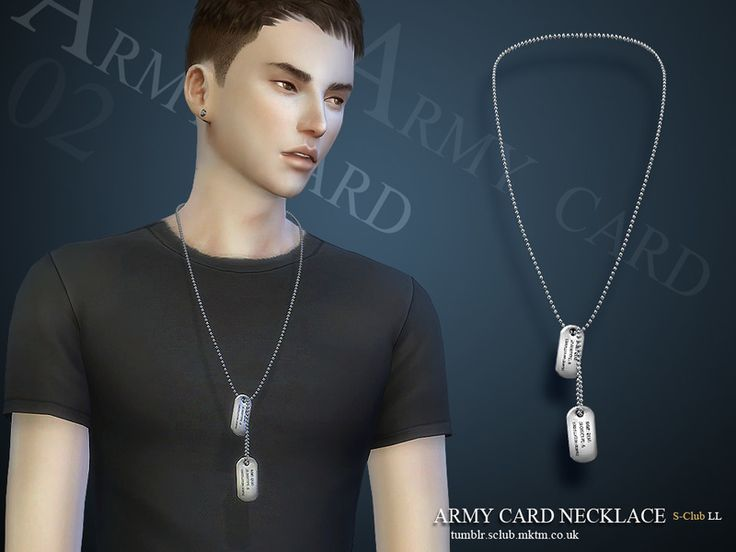 Men's dog tags  necklace, hope you enjoy with them  Found in TSR Category 'Sims 4 Male Necklaces'