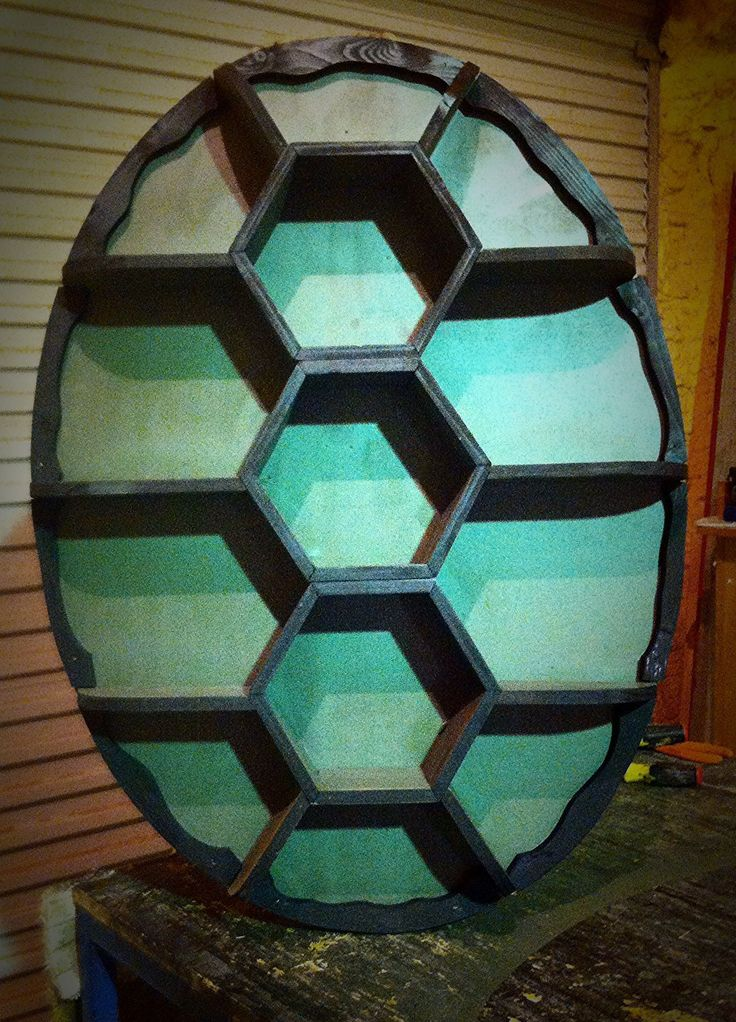 Custom Made Teenage Mutant Ninja Turtles Inspired Shell Shelf