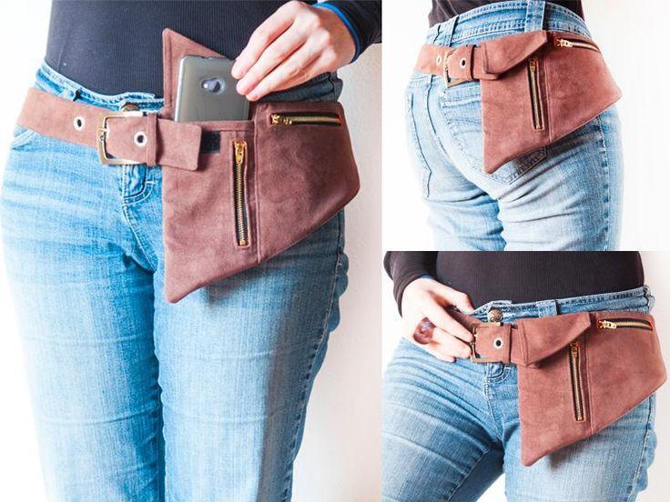 (9) Name: 'Sewing : Phone Belt Pocket Pattern or hipster bag