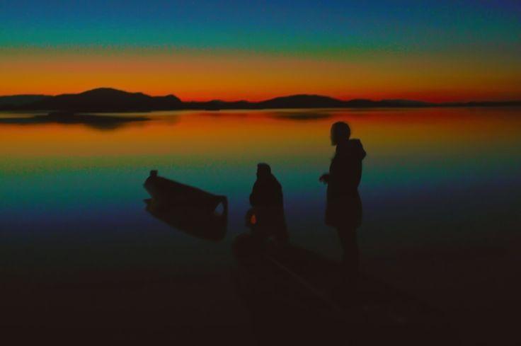 #sunset#sea#boat#peaples