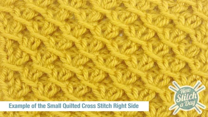 Knitting Without Needles Pdf : How to knit the small quilted cross stitch newstitchaday