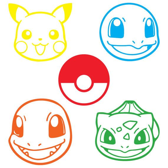 Pokemon Go Character Decals by TheCreativeSpark2 on Etsy