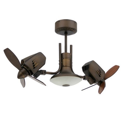 This is not only a dual ceiling fan with motors that tilt to your desired position, but it also has a third motor that allows the fan to have an unique oscillating feature. Not a gyro fan like many dual fans, but a true double oscillating ceiling fan. It doesn't get much cooler than this!