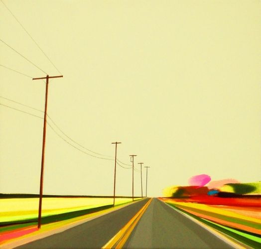 """Grant Haffner """"Autumn on Daniel""""  Acrylic on wood panel, 2010  12 x 12 inches Signed, titled and dated verso"""
