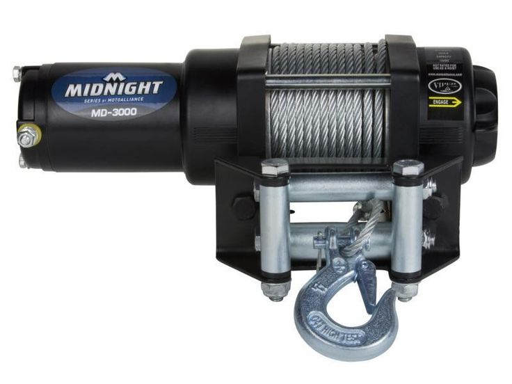 VIPER Midnight 3000lb ATV/UTV Winch Kit w/ Steel Cable for Grizzly 550 and 700