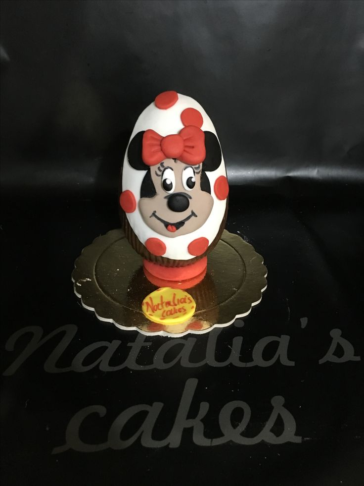 Chocolate Easter egg Minnie Mouse!