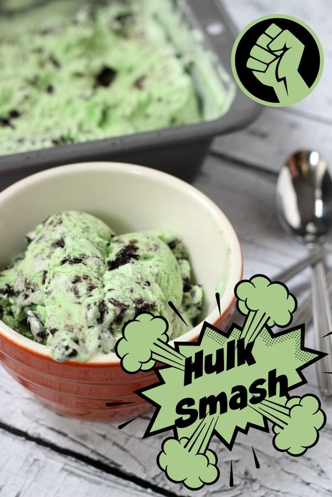 Hulk Smash Ice Cream ~ AKA: Mint Oreo Ice Cream