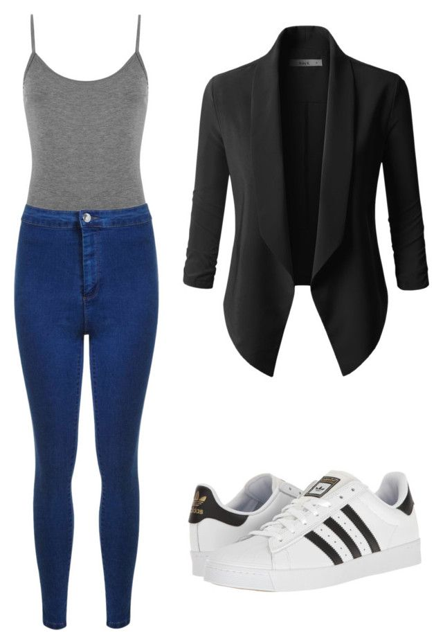 """outfits para la universidad"" by paola-oliveros on Polyvore featuring WearAll, Miss Selfridge and adidas"