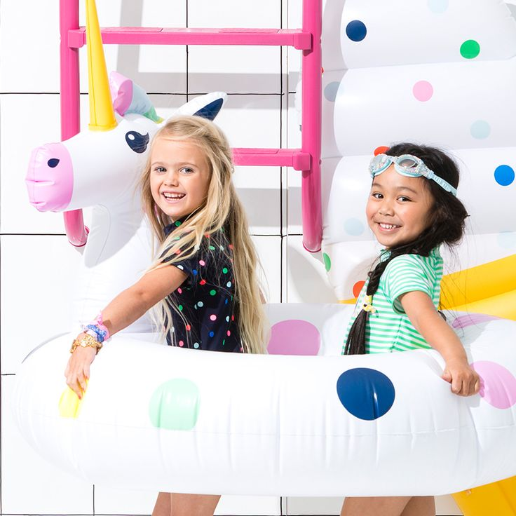 Inflatables as big as YOU - Click the image to shop our Lifesize Unicorn Inflatable and heaps more #cottononkids #cottononkidsswim #inflatables #unicorn