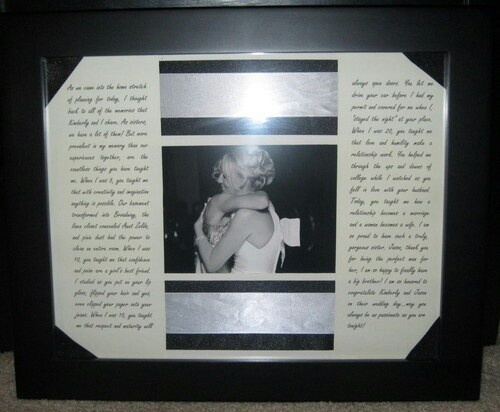 Perfect Wedding Gift For Sister: Frame The Maid Of Honor Speech To Give As Gift After