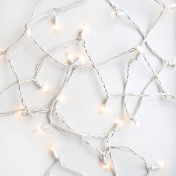 Starry nights. 27 feet of ambiance, this long string light set has 50 lights strung across a white slightly bendable wire. Drape this across your wall, wrap your bed posts, or get creative and come up with an orientation of your own. And, with a a plug on one side, and outlet on the other, you can connect multiple string lights together to create an even longer strand. No matter how you hang your lights, your space will surely shine. The lights are steady white light, however, if you swap…