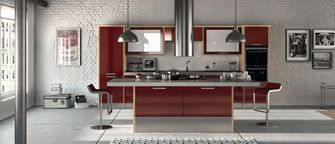 Chic Burgundy Gloss & Titanium Kitchen!