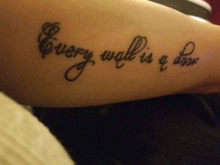 New tattoo. Motto of my life.