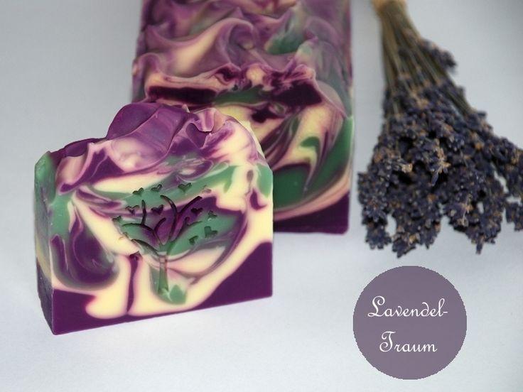 Naturseife Lavendeltraum mit Bio-Sheabutter vegan von SauberKunst auf DaWanda.com