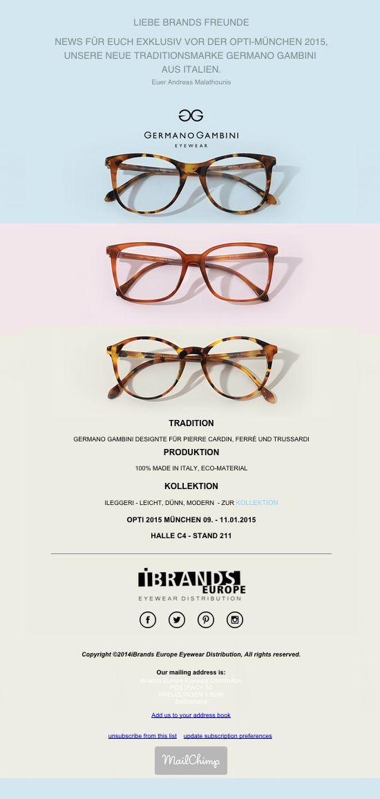 iBrandsEurope - Germano Gambini - Newsletter Design by #AlexNeuf