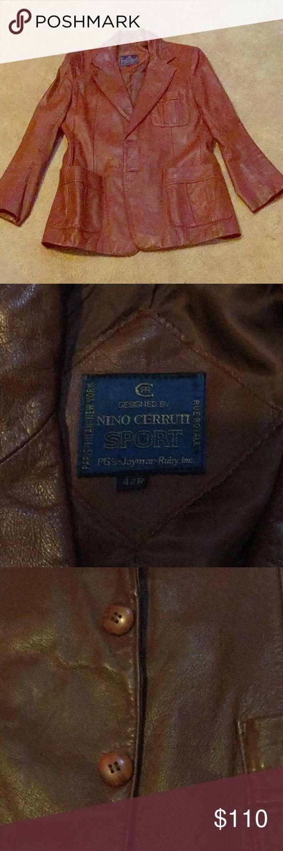 Men's Vintage Leather Coat Vintage leather coat. Nino Cerruti Jackets & Coats