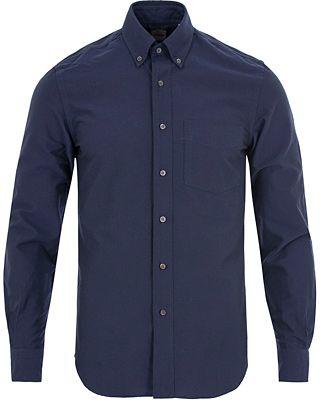 Aspesi Button Down Oxford Shirt Navy i gruppen Skjortor / Casual Skjortor hos Care of Carl (13048611r)