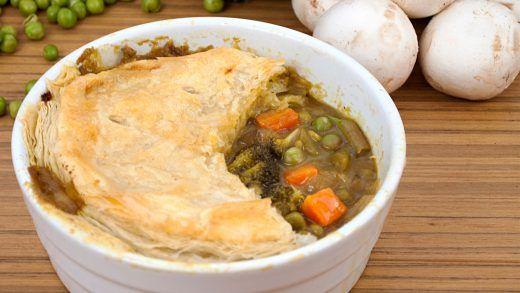 Green Curry Veggie Pot Pie