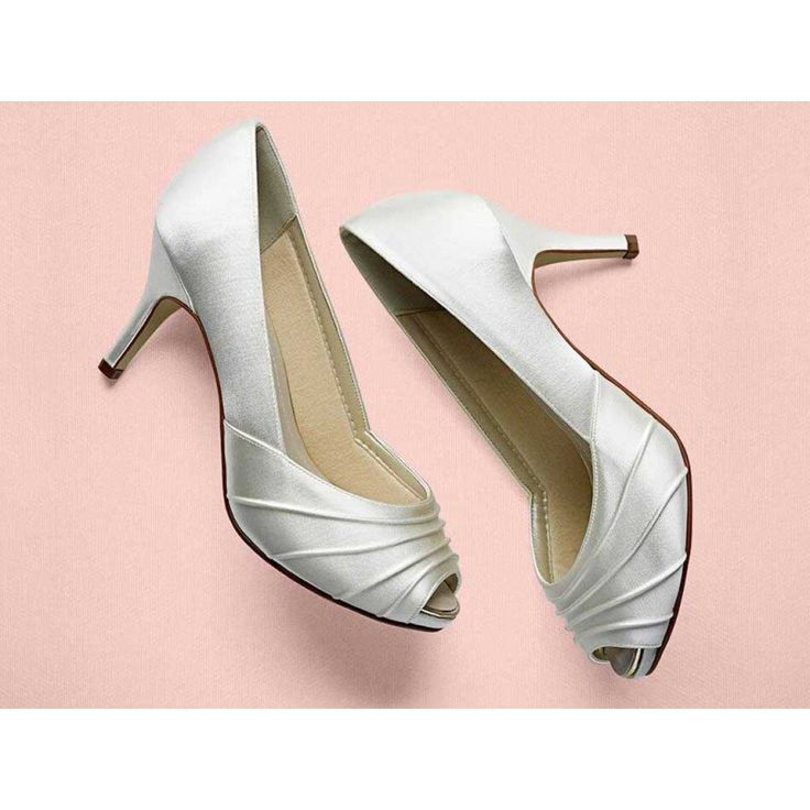 Sophie+-+Satin+Peep+Toe+Shoes+-+A+stylish+peep+toe+court+with+a+covered+platform+and+elegant+pleated+detail.+  Take+a+look+at+the+sole+of+our+shoes+-+there+you+will+find+a+tiny+token+of+good+luck+for+our+brides+magical+day+and+a+true+mark+of+Rainbow+Club+authenticity.  Did+you+know+you+can+have+these+shoes+hand+coloured+to+any+shade?+Click+on+the+Colour+Studio+tab+for+more+information.++£79.00