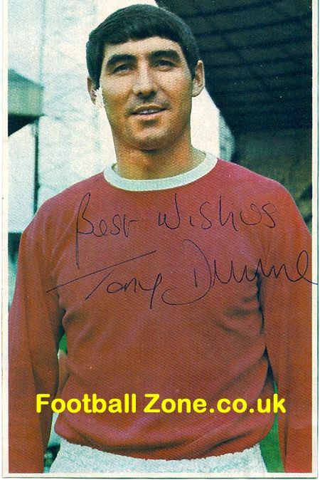 Manchester United Tony Dunne Autograph 1960's