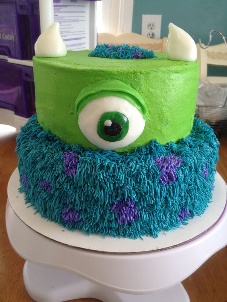 Monsters Inc. Mike and Sully cake