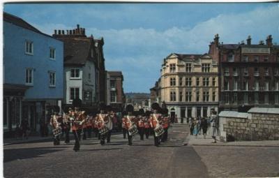 Colourpicture Postcard - Guards Band Arriving at Windsor Castle - AL102 c1966