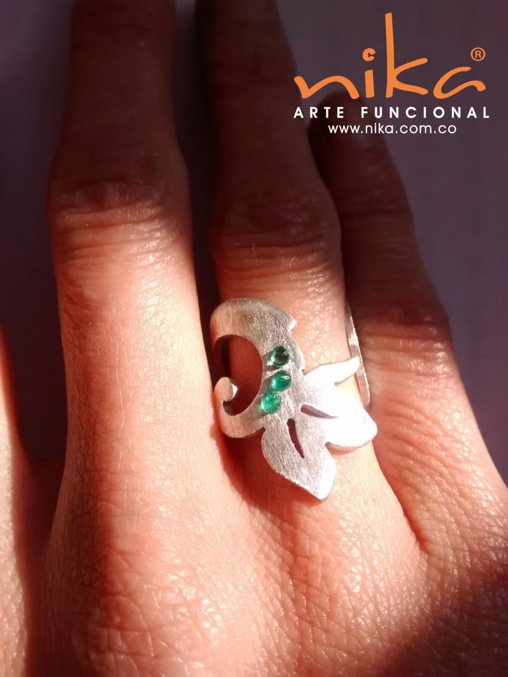 Jewellery. Emeralds Ring. Silver Ring. Colombian Emeralds. Modern ring. Gold filled Ring. by nikaarte on Etsy