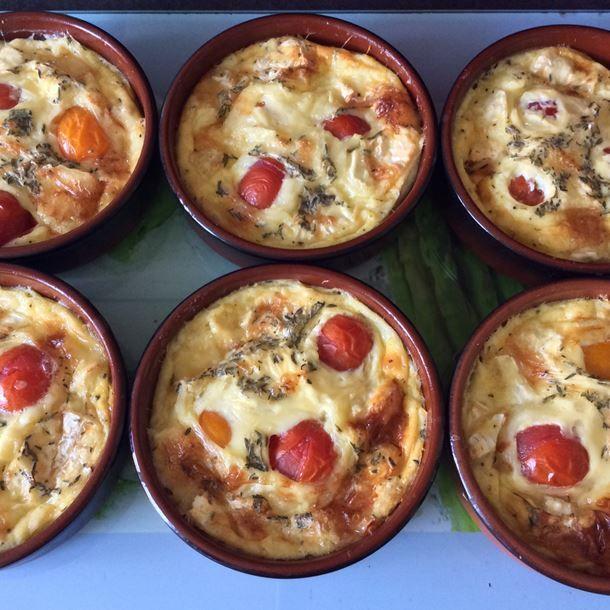 Clafoutis au camembert et tomates cerises