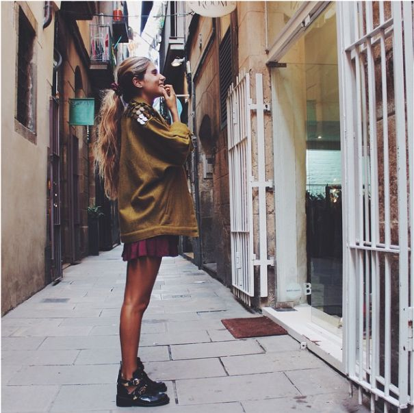 La instagramer Belén Hostalet con prendas María Roch #mariaroch #belenhostalet #cdg_comunicacion #moda #modamujer #outfit #tendencias #fashion #modajoven #barcelona